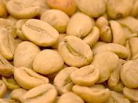 Белый кофе в зернах