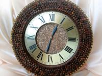 Часы из зерен кофе в стиле винтаж
