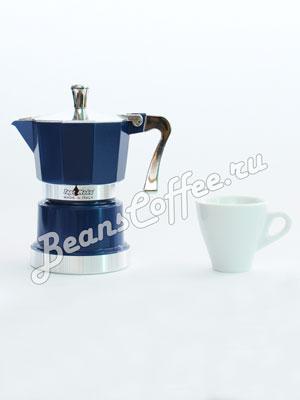 Гейзерная кофеварка Top Moka Caffettiera Top 3 порции (120 мл) синий argento