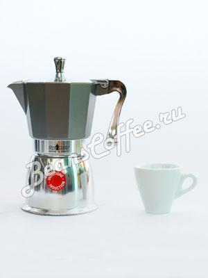 Гейзерная кофеварка Top Moka Caffettiera Super Top 6 порции (240 мл) серый индукционный