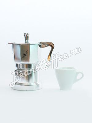 Гейзерная кофеварка Top Moka Caffettiera Super Top 3 порции (120 мл) серебро