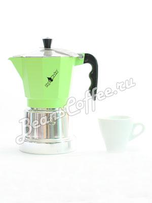 Гейзерная кофеварка Top Moka Caffettiera Top 6 порции (240 мл) зеленый argento