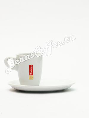 Чашка с овальным блюдцем Malongo для капучино