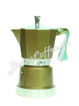 Гейзерная кофеварка Top Moka Caffettiera Super Top 6 порции (240 мл) бронзовый