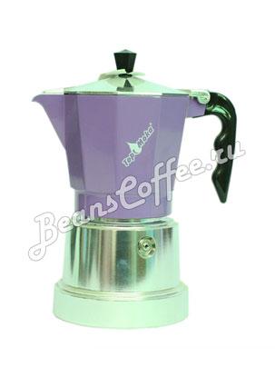 Гейзерная кофеварка Top Moka Caffettiera Top 6 порции (240 мл) сиреневый argento