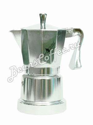 Гейзерная кофеварка Top Moka Caffettiera Super Top 6 порции (240 мл) серебряный
