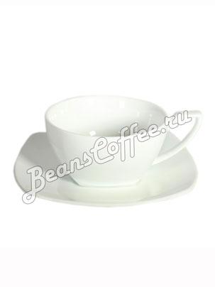 Чайная пара фарфоровая квадратная Bristot 150 мл