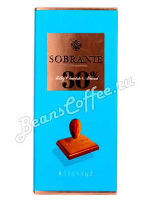 Шоколад Sobranie Молочный с миндалем 90 гр