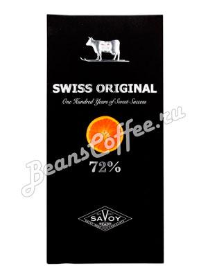 Шоколад Swiss Original Горький  с апельсином 100гр