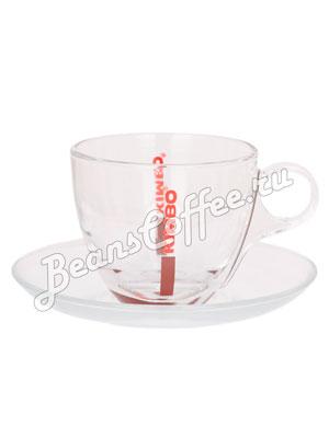 Чашка Kimbo для капучино стекло