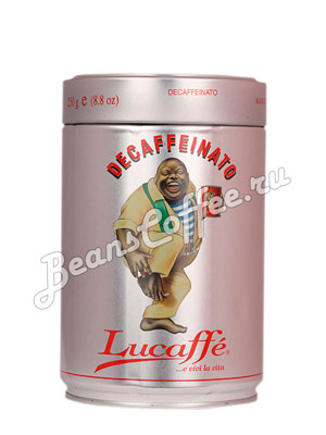 Кофе Lucaffe в зернах Decaffeinato 250 гр