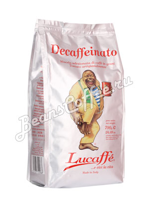 Кофе Lucaffe в зернах Decaffeinato 700 гр