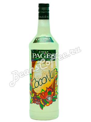 Сироп Pages Кокос 1 литр