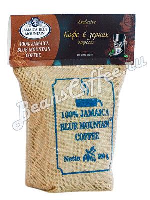 Кофе Jamaica Blue Mountain Blend в зернах темная обжарка 500 гр