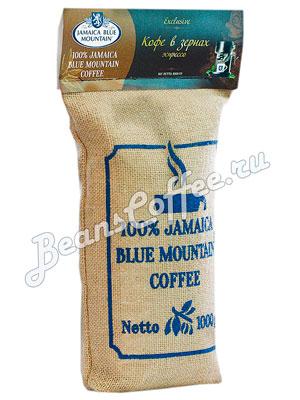 Кофе Jamaica Blue Mountain Coffee в зернах темная обжарка 1 кг