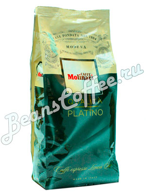 Кофе Molinari в зернах Platino 1кг