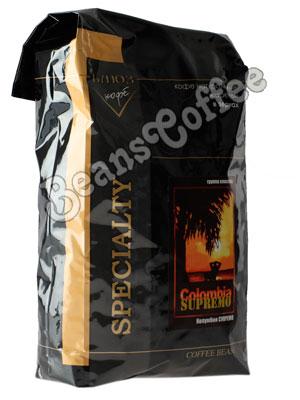 Кофе Colombia Supremo в зернах 1 кг