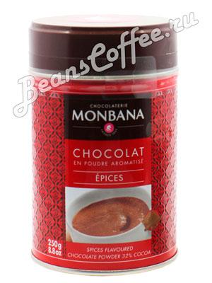 Горячий шоколад Monbana Пряный 250 гр