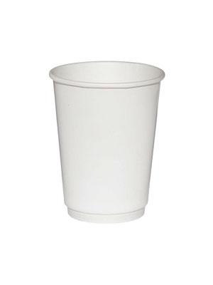 Стакан бумажный ThermoCup двухслойный 300 мл Белый