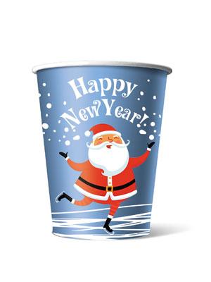 Стакан бумажный одноразовый Happy New Year 250 мл
