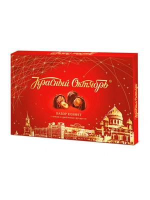 Набор конфет Красный Октябрь с целым и дробленным фундуком 200 гр