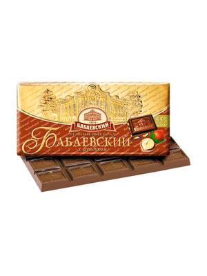 Шоколад Бабаевский темный с фундуком 100 гр
