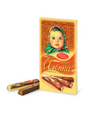 Шоколад Красный Октябрь Аленка в стиках с вареной сгущенкой 100 гр