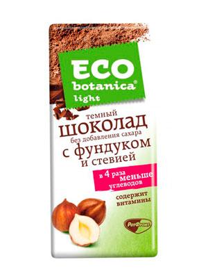 Шоколад Рот Фронт Eco botanica Light темный с фундуком и стевией 90 гр