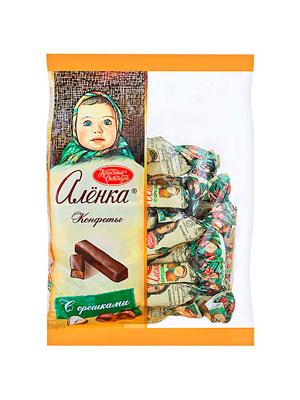Конфеты Красный Октябрь Аленка с орешками 250 гр