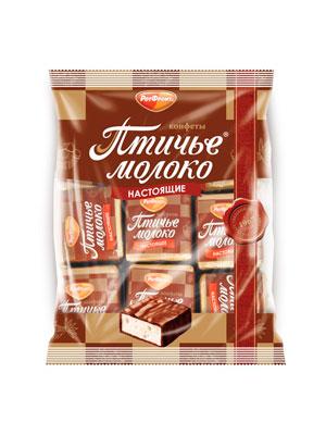 Конфеты Рот Фронт Птичье молоко сливочно-ванильные 225 гр