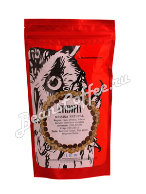 Кофе Owl в зернах Ethiopia Messina Natural 250 гр