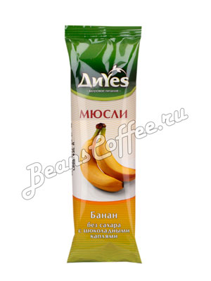 Мюсли Diyes Банан без сахара с шоколадными каплями