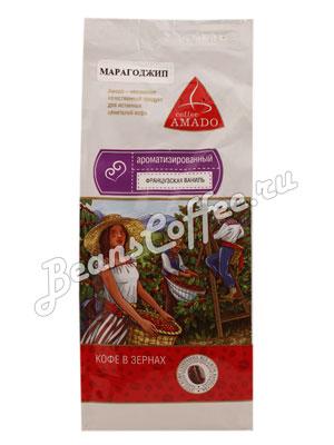 Кофе Amado в зернах Марагоджип Французская ваниль 200 гр