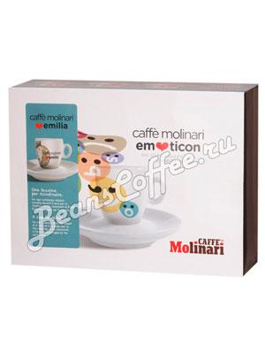 Подарочный набор Molinari Emoticon (чашки и блюдце) эспрессо