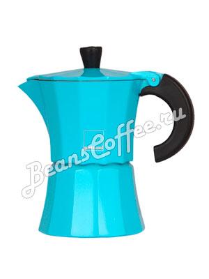 Гейзерная кофеварка Morosina (синяя) 3 порции
