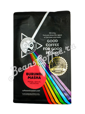 Кофе Owl в зернах Burundi Masha 250 гр