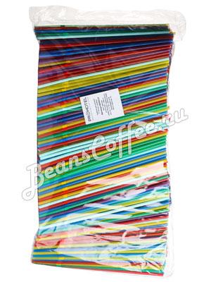 Трубочки со сгибом L=24см [1000шт]; пластик; D=0.5,L=24см; разноцветные
