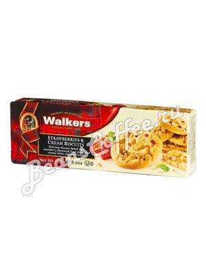 Бисквитное печенье Walkers клубника со сливками 150 гр