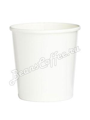Бумажный контейнер с круглам дном 500 мл белый