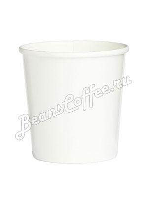 Бумажный контейнер с круглам дном 300 мл белый