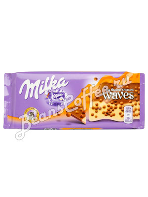 Шоколад Milka Waves Caramel 81 гр