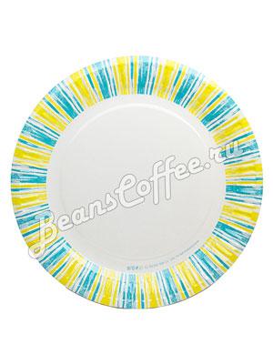 Бумажные тарелки 230 мм Полоски, WB-ламин 100 шт