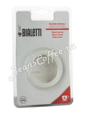 Bialetti 3 уплотнителя + 1 фильтр для гейзера 6 порций