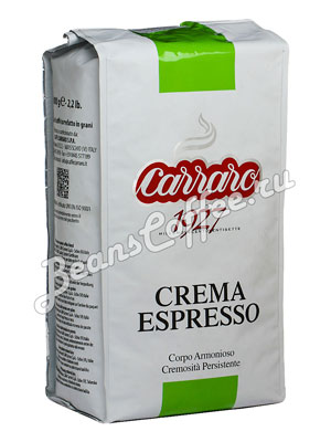Кофе Carraro в зернах Crema Espresso 1 кг