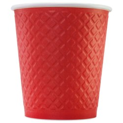 Стакан Двухслойный. Waffle Red 250 мл (25 шт)
