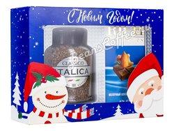 Подарочный набор Italica растворимый и Rich Collection молочный шоколад с орехами